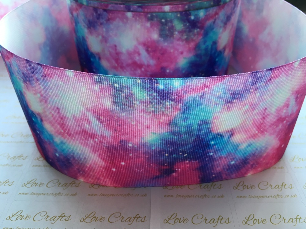NEW Galaxy Grosgrain Ribbon