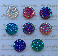 4x 25mm AB Sparkle Resin