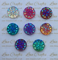 5x 20mm AB Sparkle Resin
