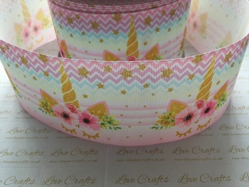 Abbie Sleepy Unicorn Grosgrain Ribbon