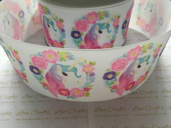 Ellie Unicorn Grosgrain Ribbon