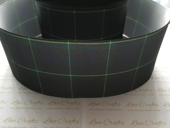Green/Blue Tartan Grosgrain Ribbon