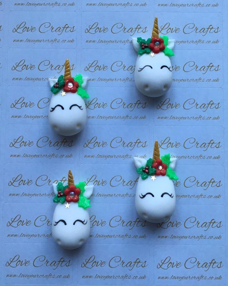Christmas Unicorn Face Clay