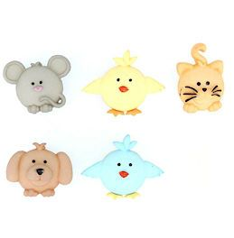Dress It Up Buttons: Pudgy Pets