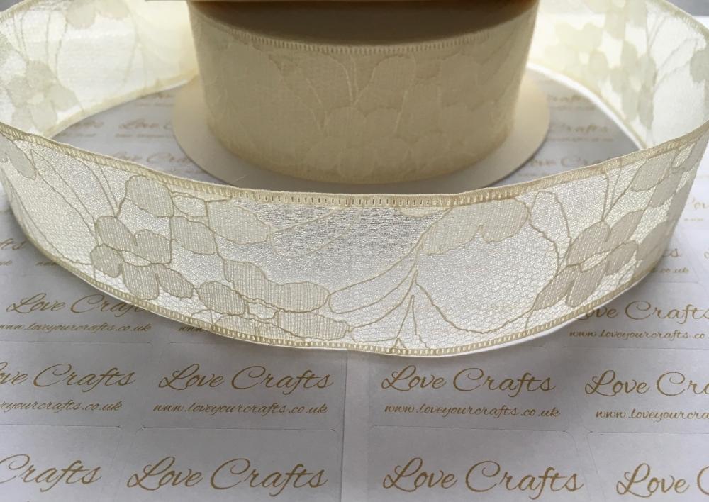 40mm Cream Lace
