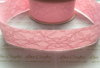 40mm Light Pink Ribbon Backed Lace
