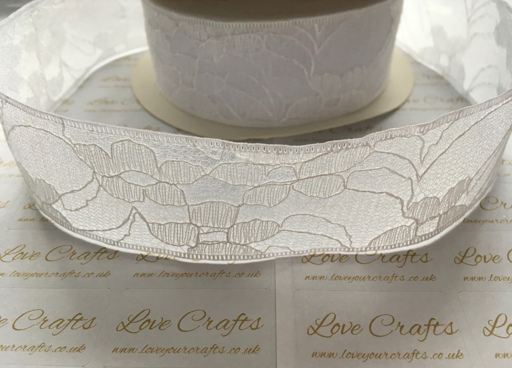 40mm White Lace