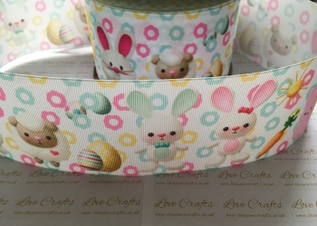 Easter Bunnies & Sheep Grosgrain Ribbon