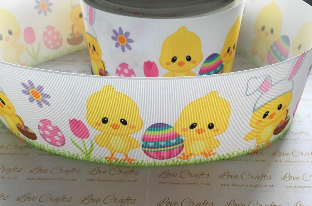 Easter Chicks Grosgrain Ribbon