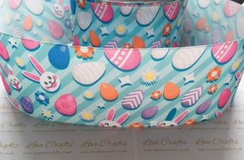 Easter Eggs & Bunnies Grosgrain Ribbon