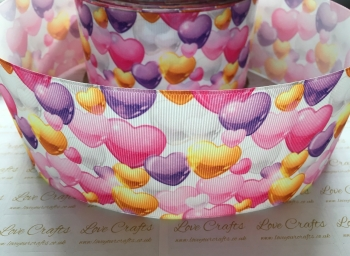 Girly Hearts Grosgrain Ribbon