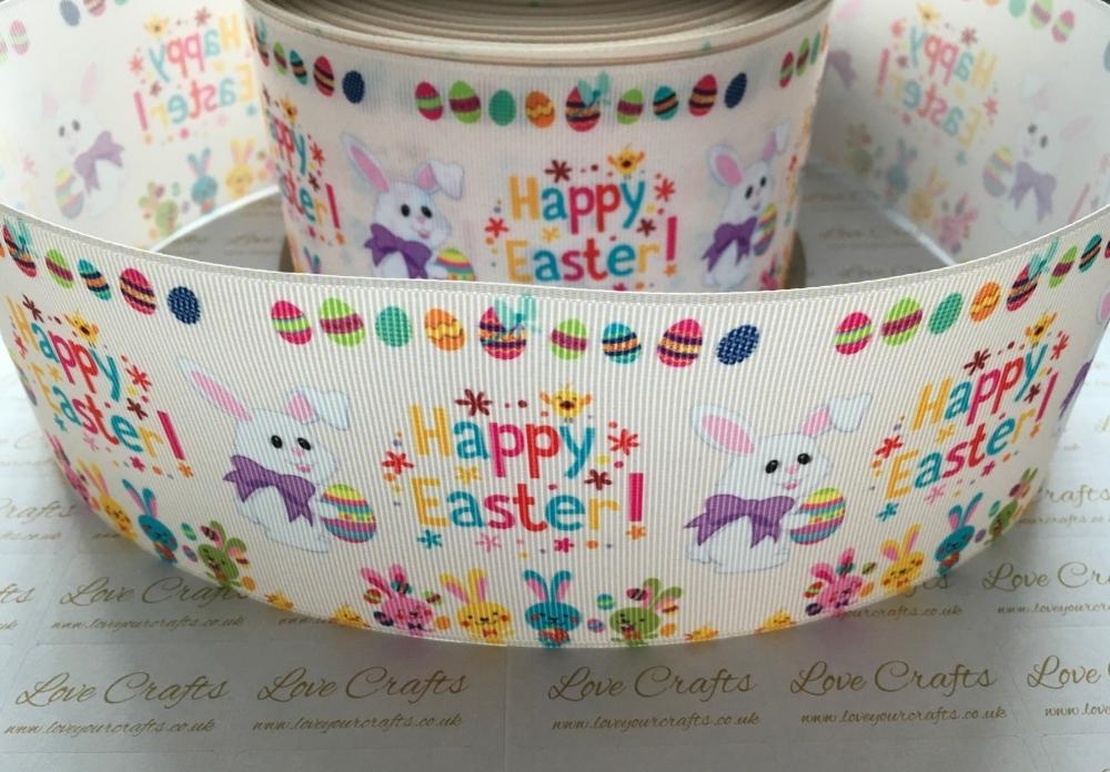 Happy Easter Grosgrain Ribbon