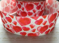 New Red Hearts Grosgrain Ribbon