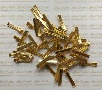 10 - 40mm Gold Alligator Hair Clips