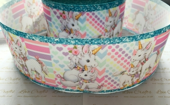 Mum & Baby Unicorn Grosgrain Ribbon