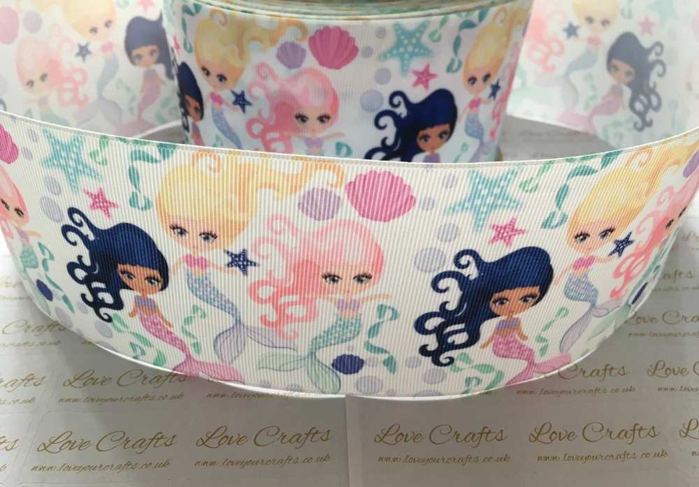 Pretty Mermaids Grosgrain Ribbon