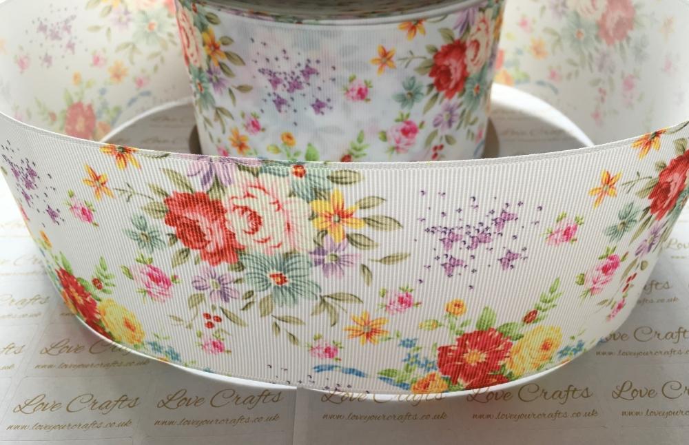 Ella Floral Grosgrain Ribbon