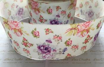 Emily Floral Grosgrain Ribbon
