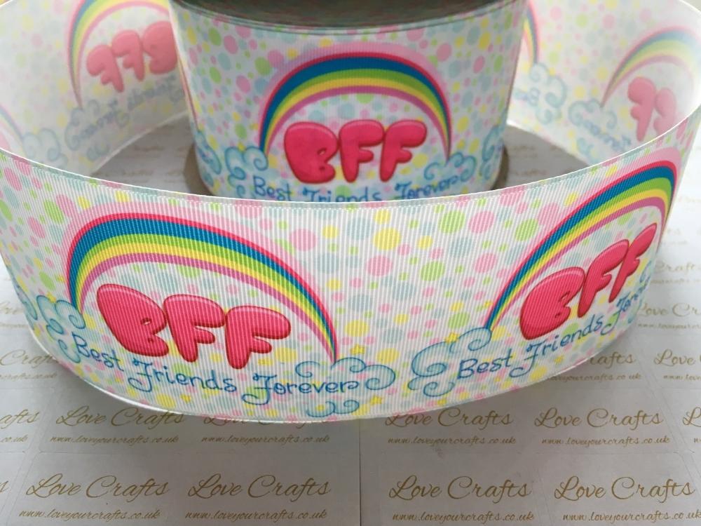 BFF - Best Friends Forever Grosgrain Ribbon