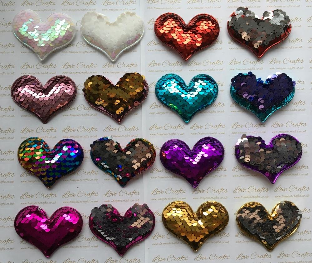 Colour Change Sequin Heart