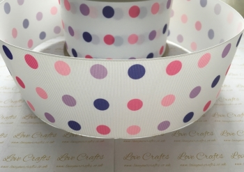 Girly Polka Dot Grosgrain Ribbon