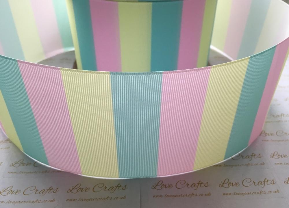 Marshmallow Stripes Grosgrain Ribbon