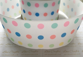 Pastel Polka Dot Grosgrain Ribbon