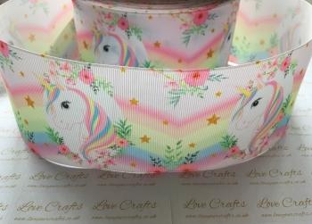 Pastel Unicorn Grosgrain Ribbon