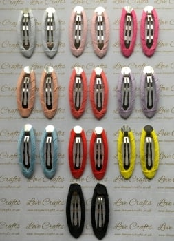 Ribbon Covered Snap Clips
