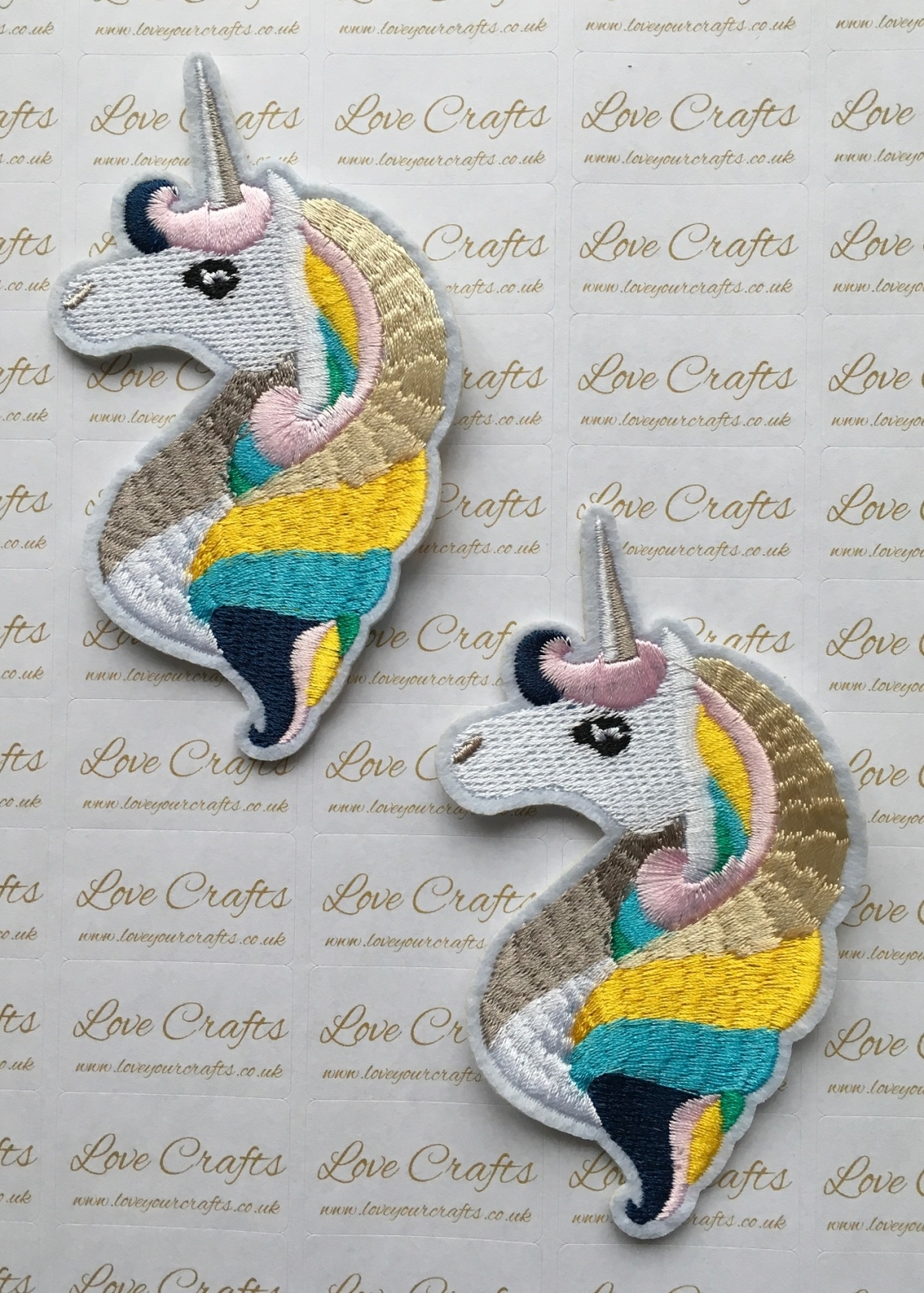 Unicorn Face Embroidery Patch