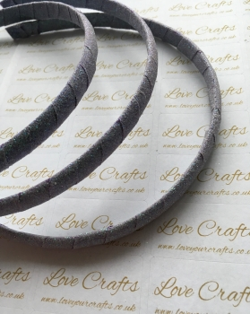 Lilac Glitter Ribbon Covered Headband