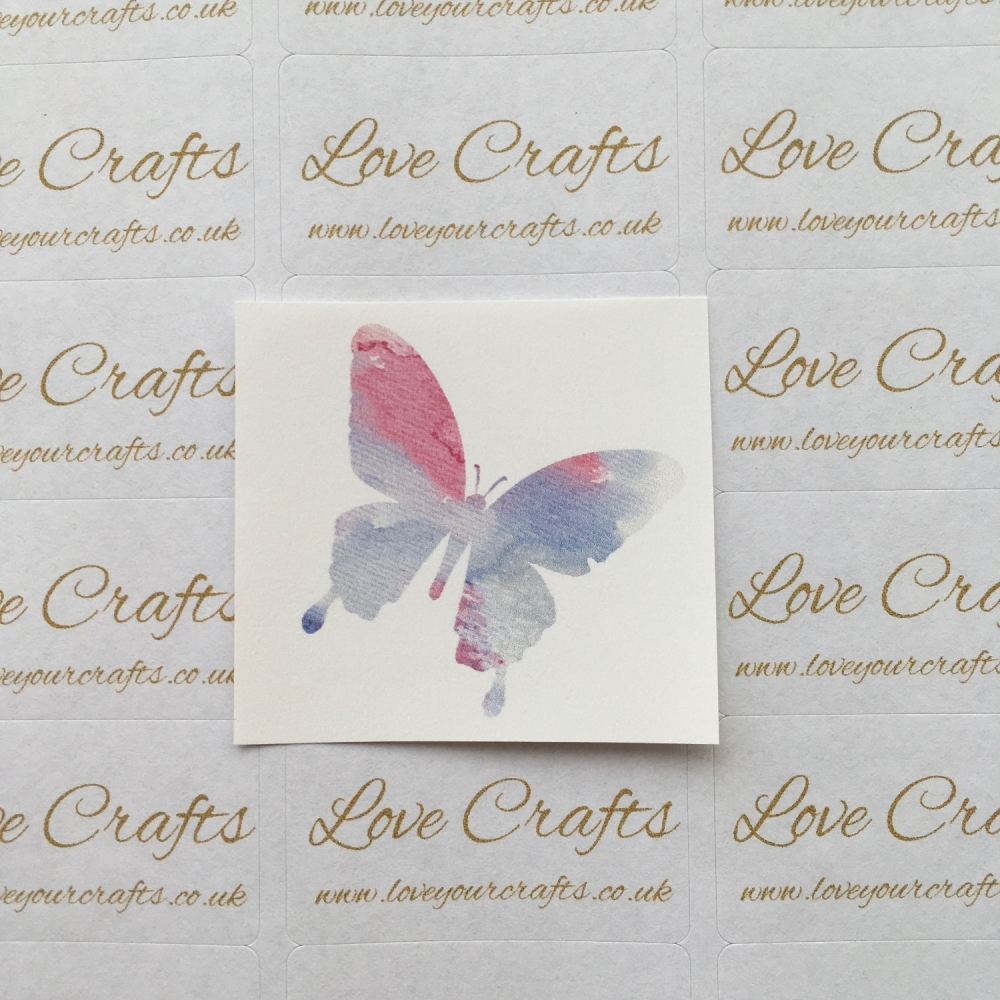 LC Ribbon Transfer - Watercolour Butterfly