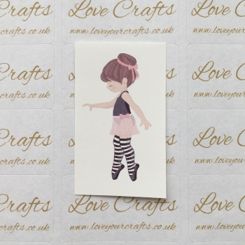 LC Ribbon Transfer - Brown Hair Ballerina 2