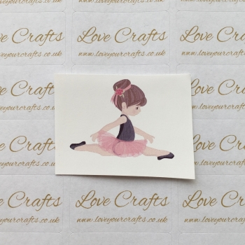 LC Ribbon Transfer - Brown Hair Ballerina 3