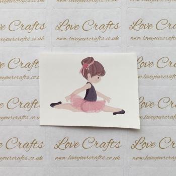 LC Ribbon Transfer - Brown Hair Ballerina 3