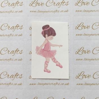 LC Ribbon Transfer - Brown Hair Ballerina 4