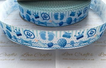 "1"" It's A Boy Grosgrain Ribbon"