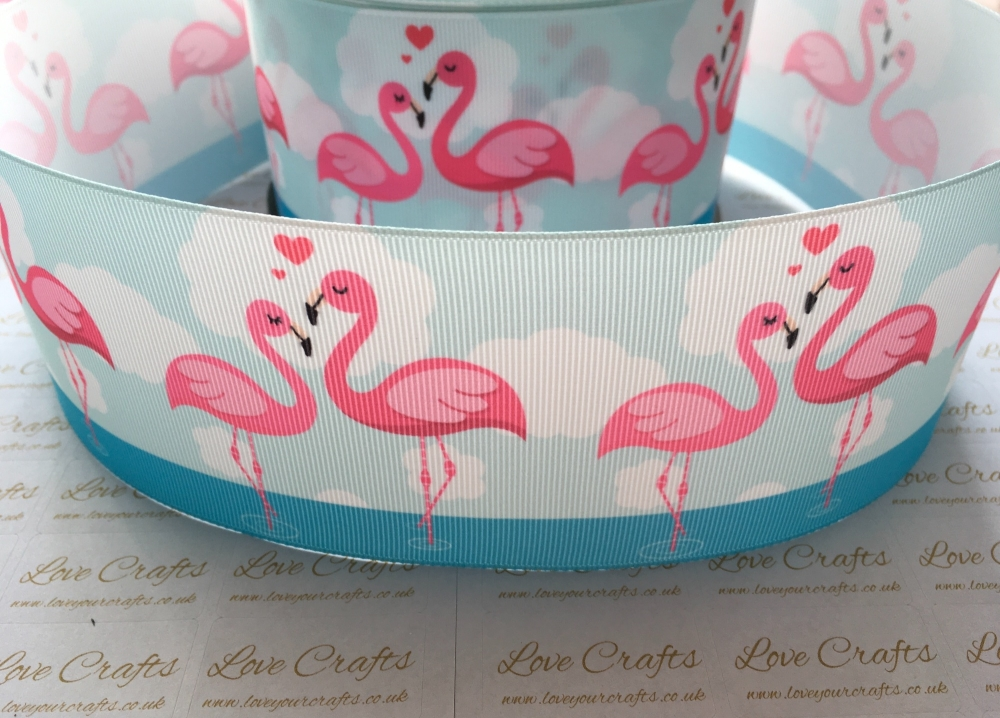 Flamingo Love Grosgrain Ribbon