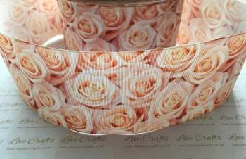 Peach Rose Grosgrain Ribbon