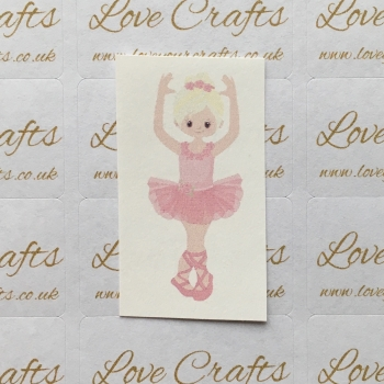 LC Ribbon Transfer - Blonde Hair Ballerina 1