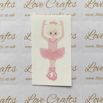 LC Ribbon Transfer - Blonde Hair Ballerina 1