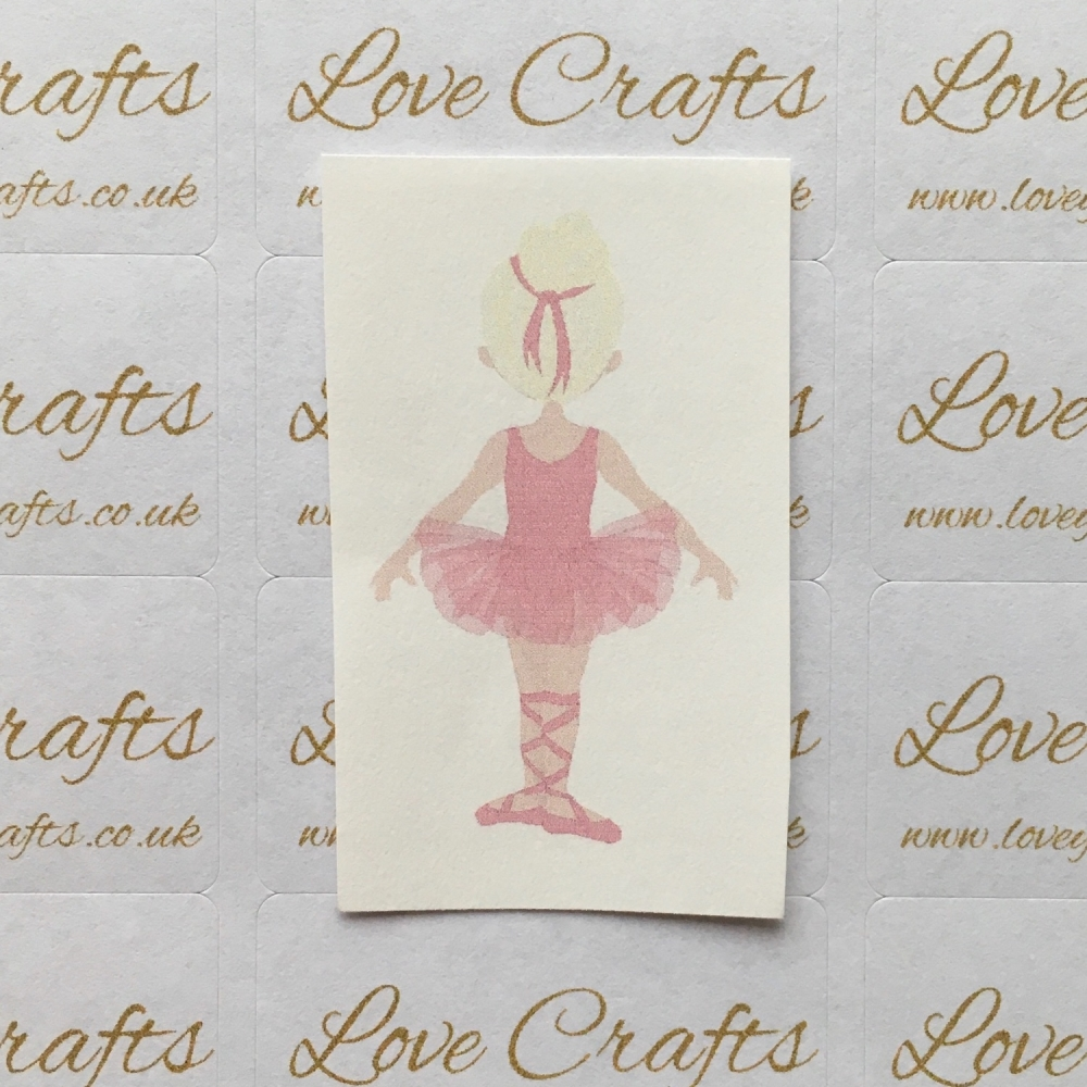 LC Ribbon Transfer - Blonde Hair Ballerina 5