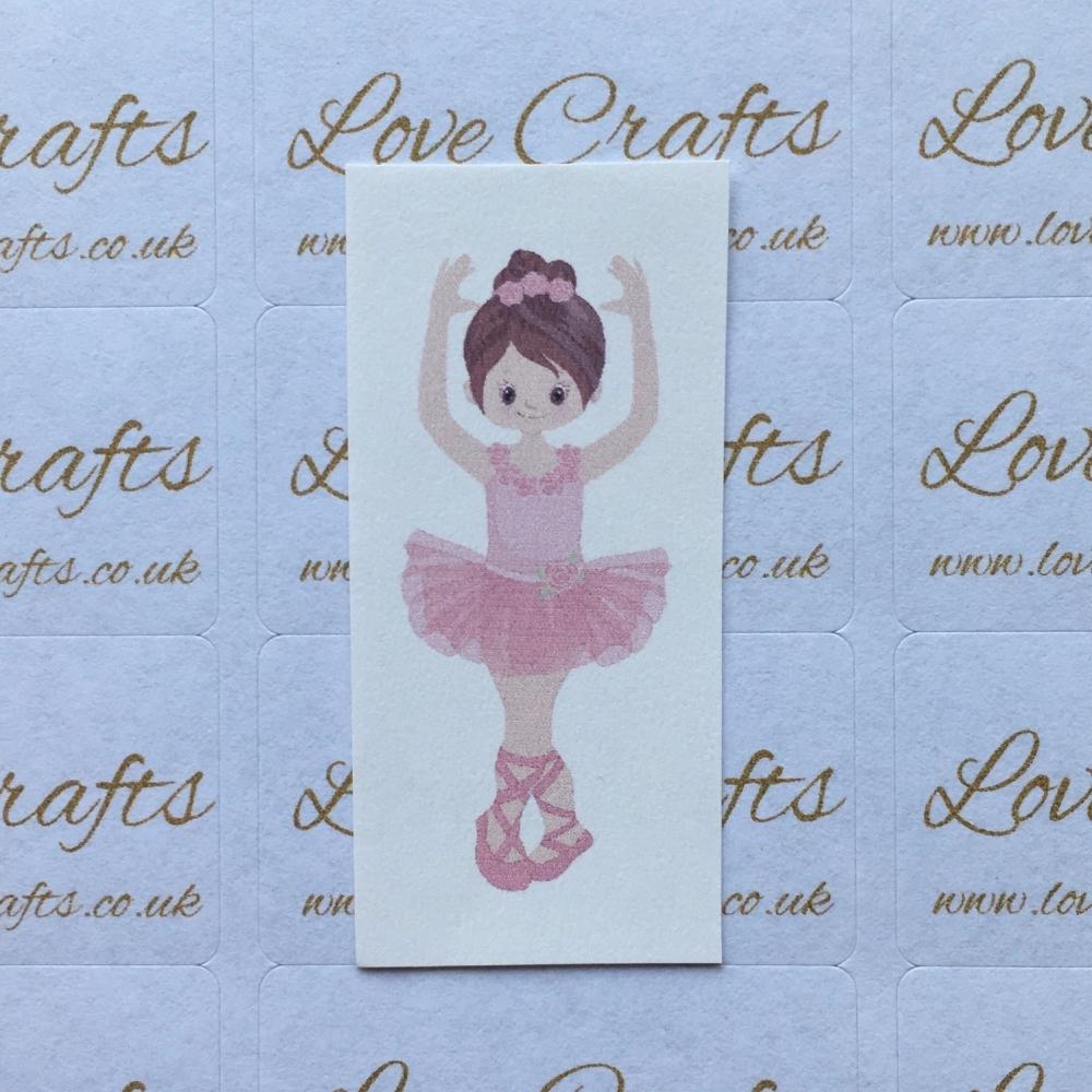 LC Ribbon Transfer - Brown Hair Ballerina 1