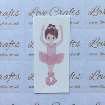 LC Ribbon Transfer - Brown Hair Ballerina 1