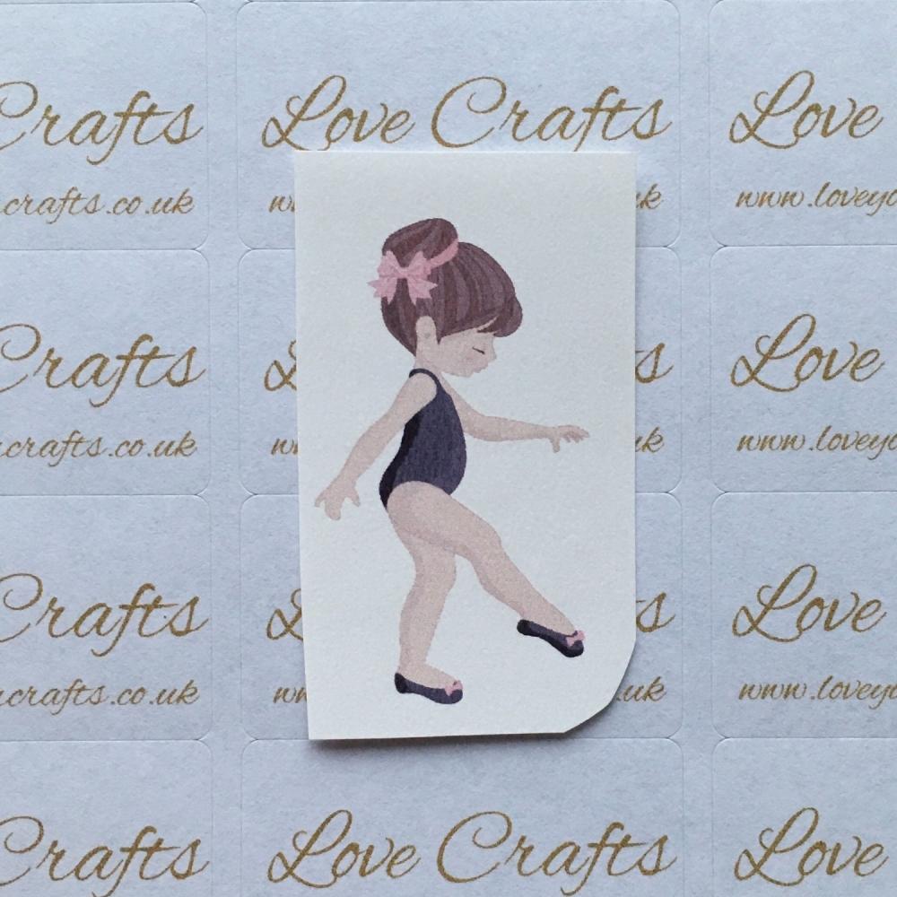 LC Ribbon Transfer - Brown Hair Ballerina 6