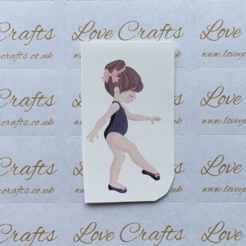 LC Ribbon Transfer - Brown Hair Ballerina 6