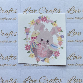 LC Ribbon Transfer - Easter Bunny Floral
