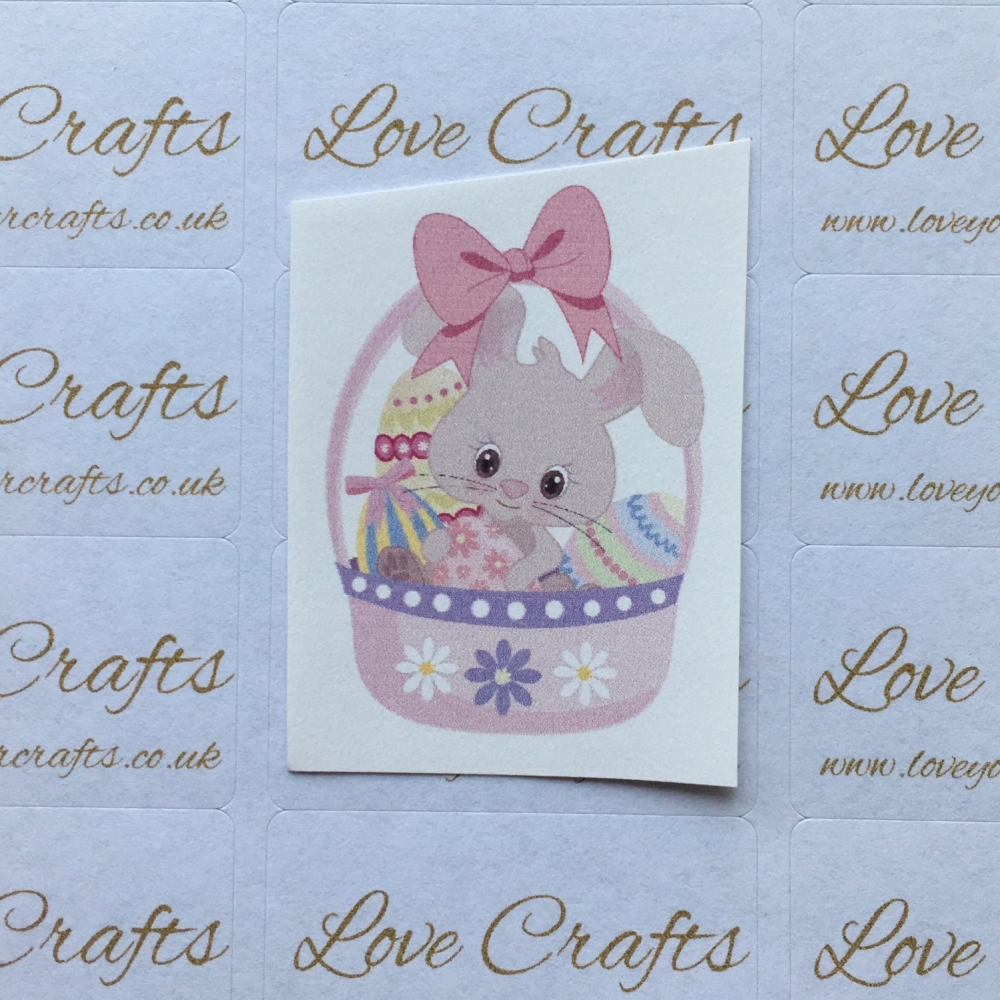 LC Ribbon Transfer - Easter Bunny Pink Bow