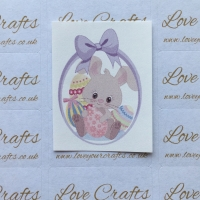 LC Ribbon Transfer - Easter Bunny Purple Bow