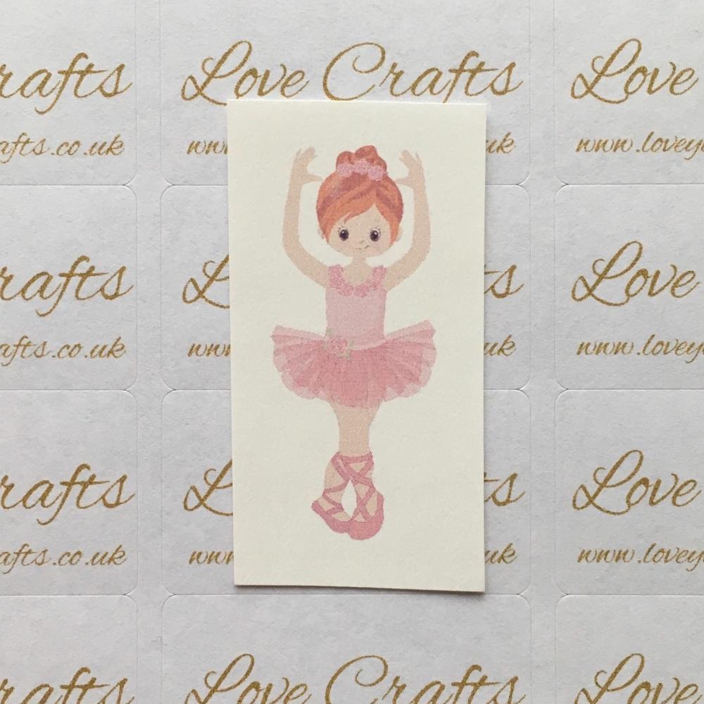 LC Ribbon Transfer - Ginger Hair Ballerina 1